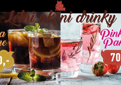 Letní akční drinky po celé léto!